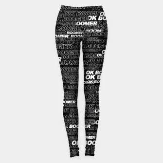Thumbnail image of OK BOOMER Leggings, Live Heroes