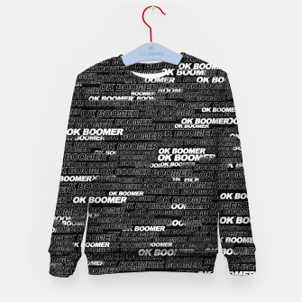 Thumbnail image of OK BOOMER Kid's sweater, Live Heroes