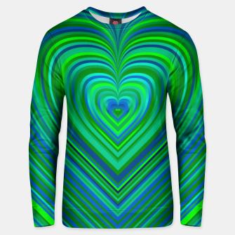 Thumbnail image of Word Spectrum: Hype-Funky-Green-Heart Unisex sweater, Live Heroes
