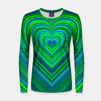 Thumbnail image of Word Spectrum: Hype-Funky-Green-Heart Women sweater, Live Heroes