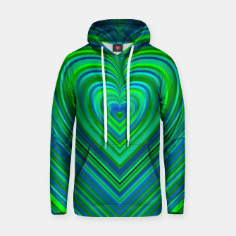 Thumbnail image of Word Spectrum: Hype-Funky-Green-Heart Hoodie, Live Heroes