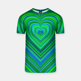 Thumbnail image of Word Spectrum: Hype-Funky-Green-Heart T-shirt, Live Heroes