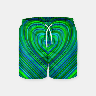 Thumbnail image of Word Spectrum: Hype-Funky-Green-Heart Swim Shorts, Live Heroes
