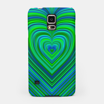 Thumbnail image of Word Spectrum: Hype-Funky-Green-Heart Samsung Case, Live Heroes