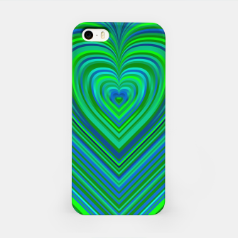 Thumbnail image of Word Spectrum: Hype-Funky-Green-Heart iPhone Case, Live Heroes