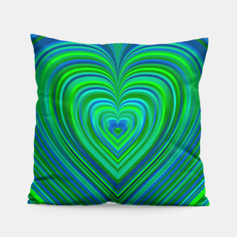 Thumbnail image of Word Spectrum: Hype-Funky-Green-Heart Pillow, Live Heroes