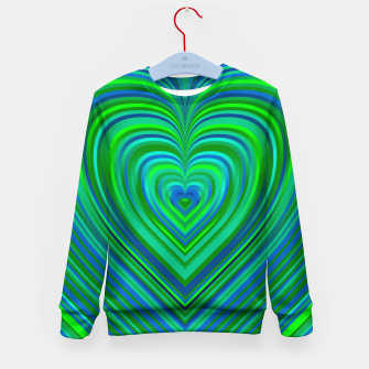 Thumbnail image of Word Spectrum: Hype-Funky-Green-Heart Kid's sweater, Live Heroes