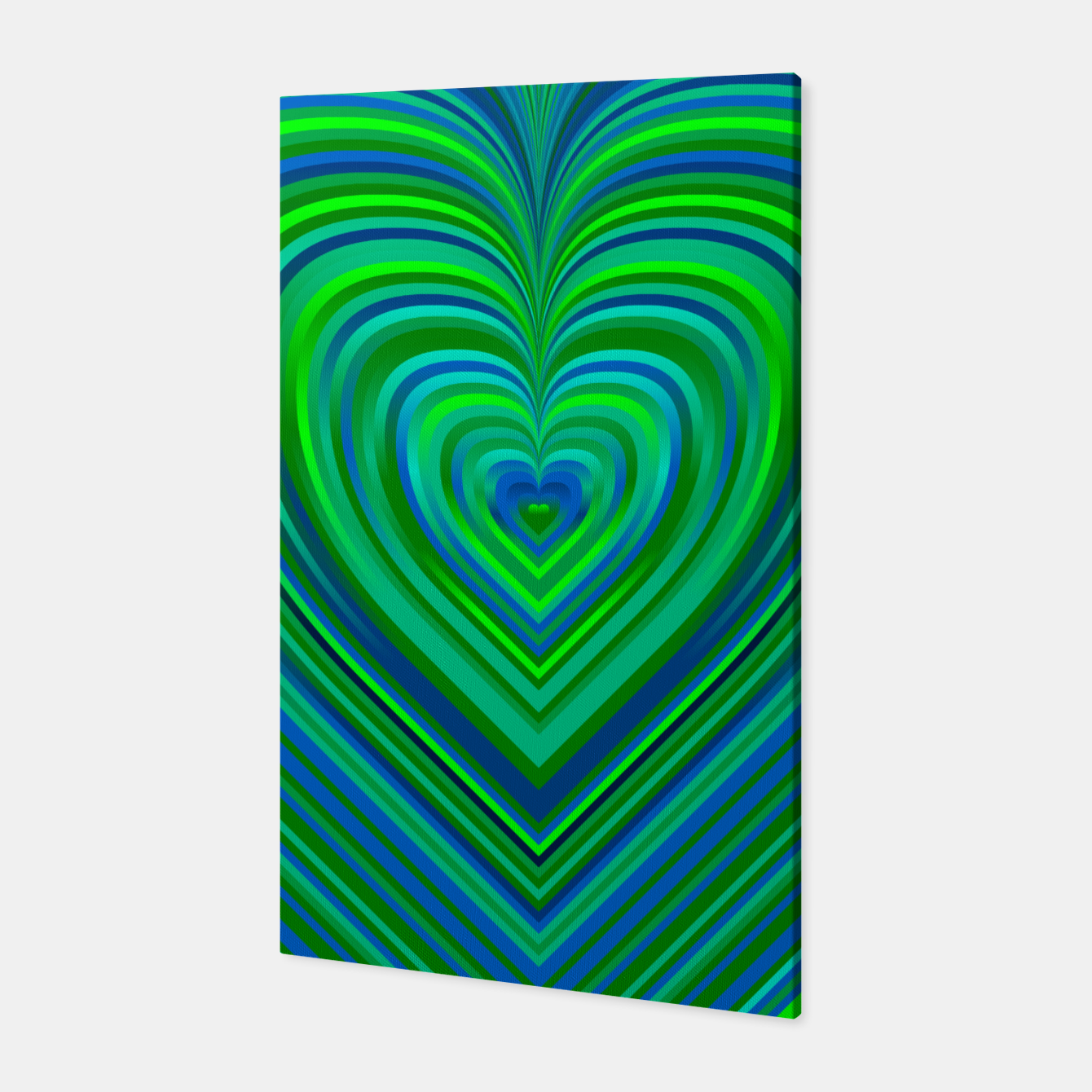 Image of Word Spectrum: Hype-Funky-Green-Heart Canvas - Live Heroes