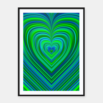 Thumbnail image of Word Spectrum: Hype-Funky-Green-Heart Framed poster, Live Heroes