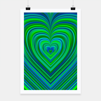 Thumbnail image of Word Spectrum: Hype-Funky-Green-Heart Poster, Live Heroes