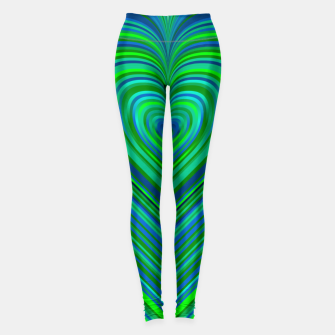Miniatur Word Spectrum: Hype-Funky-Green-Heart Leggings, Live Heroes