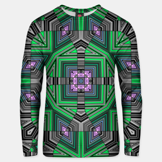 Thumbnail image of Abstract dark decor ethno folk green lined oriental ornamental striped tribal Unisex sweater, Live Heroes