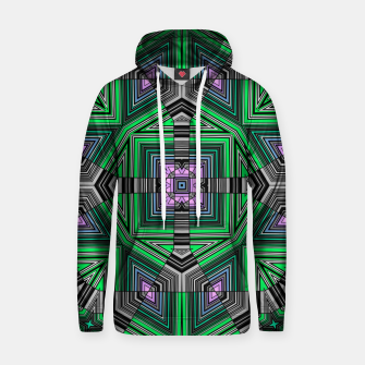 Thumbnail image of Abstract dark decor ethno folk green lined oriental ornamental striped tribal Hoodie, Live Heroes