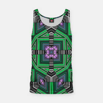 Thumbnail image of Abstract dark decor ethno folk green lined oriental ornamental striped tribal Tank Top, Live Heroes