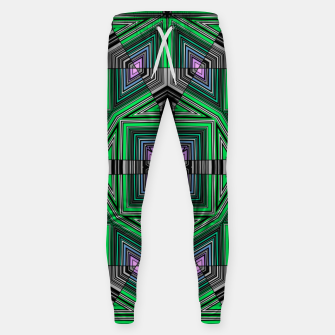 Thumbnail image of Abstract dark decor ethno folk green lined oriental ornamental striped tribal Sweatpants, Live Heroes