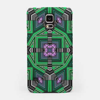 Thumbnail image of Abstract dark decor ethno folk green lined oriental ornamental striped tribal Samsung Case, Live Heroes