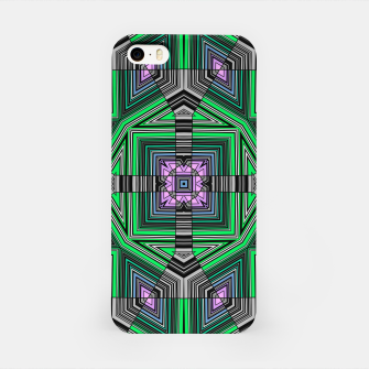 Thumbnail image of Abstract dark decor ethno folk green lined oriental ornamental striped tribal iPhone Case, Live Heroes