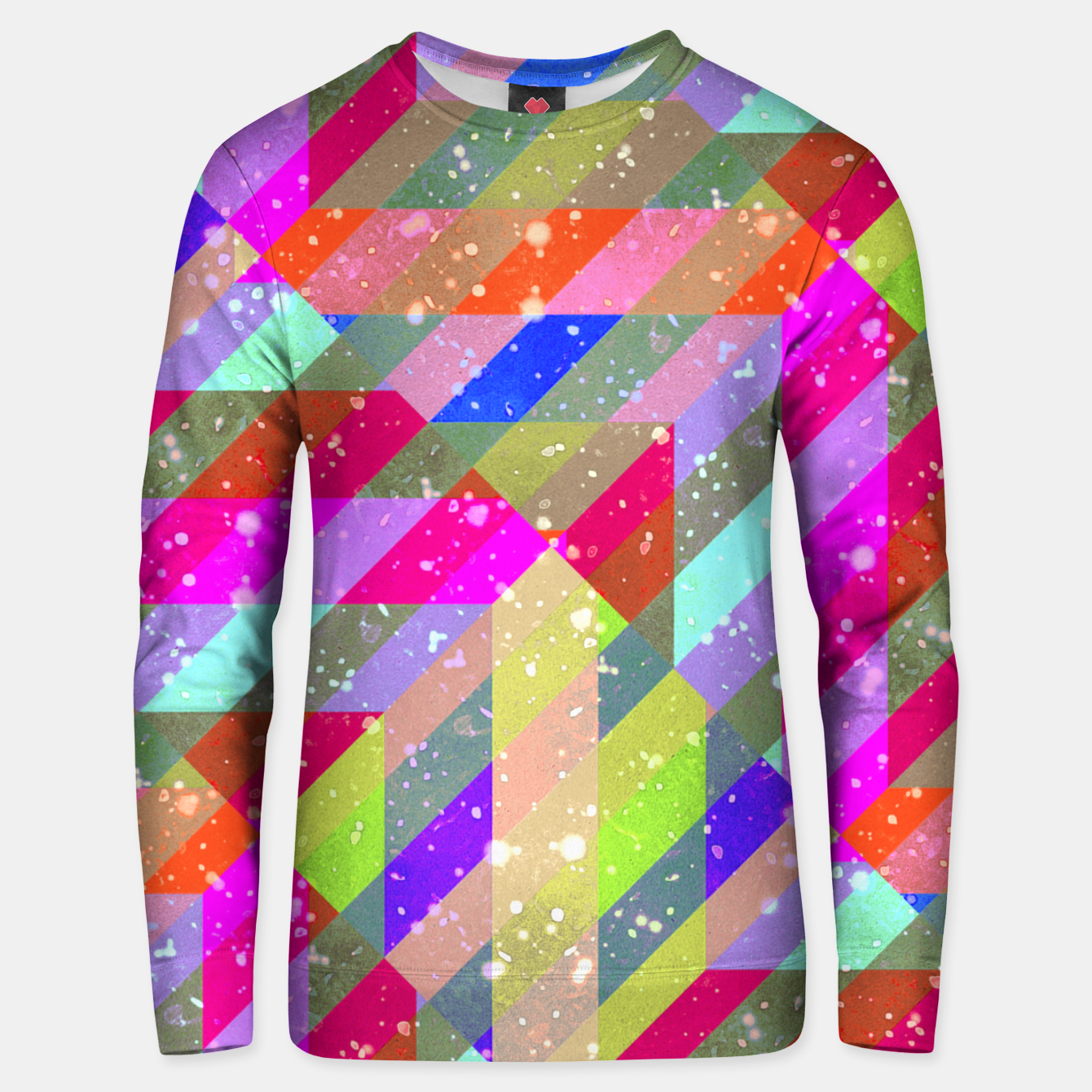 Zdjęcie Multicolored Party Geo Design Print  Unisex sweater - Live Heroes