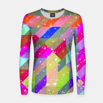 Multicolored Party Geo Design Print  Women sweater obraz miniatury