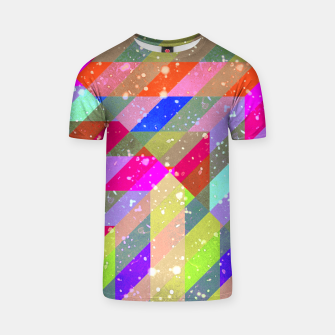 Miniatur Multicolored Party Geo Design Print  T-shirt, Live Heroes