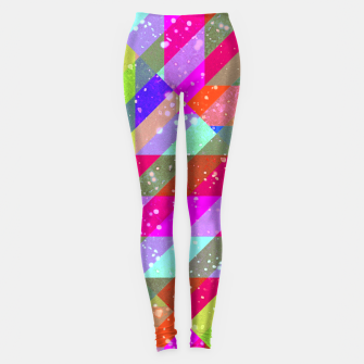 Miniatur Multicolored Party Geo Design Print  Leggings, Live Heroes