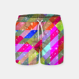 Miniatur Multicolored Party Geo Design Print  Swim Shorts, Live Heroes