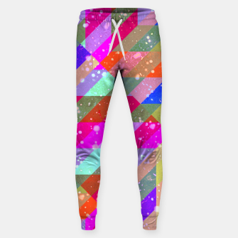 Multicolored Party Geo Design Print  Sweatpants obraz miniatury