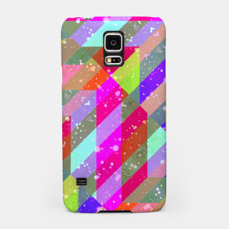 Multicolored Party Geo Design Print  Samsung Case obraz miniatury