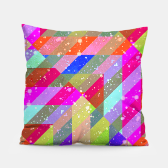 Miniatur Multicolored Party Geo Design Print  Pillow, Live Heroes
