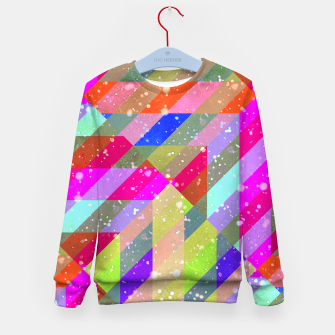 Multicolored Party Geo Design Print  Kid's sweater obraz miniatury