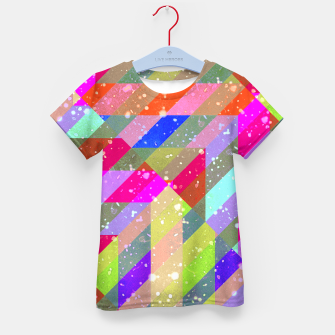 Miniaturka Multicolored Party Geo Design Print  Kid's t-shirt, Live Heroes