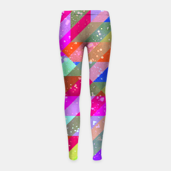 Multicolored Party Geo Design Print  Girl's leggings obraz miniatury