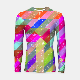 Multicolored Party Geo Design Print  Longsleeve rashguard  obraz miniatury