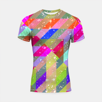 Multicolored Party Geo Design Print  Shortsleeve rashguard obraz miniatury