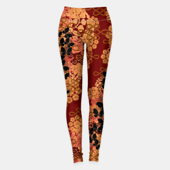Miniatur Japanese traditional family crest art.  Leggings, Live Heroes