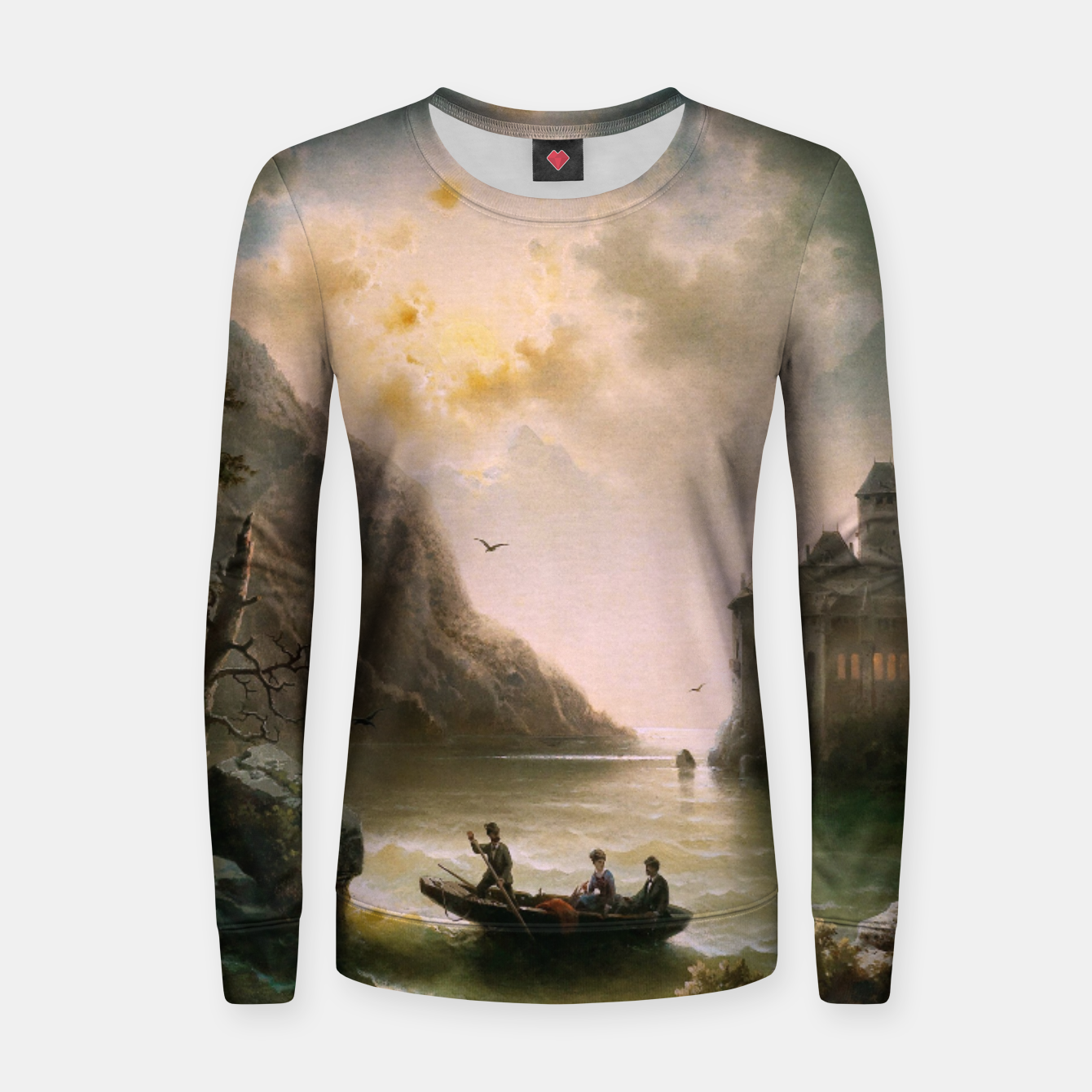 Image of Crossing In A Moonlit Night by Albert Rieger Women sweater - Live Heroes