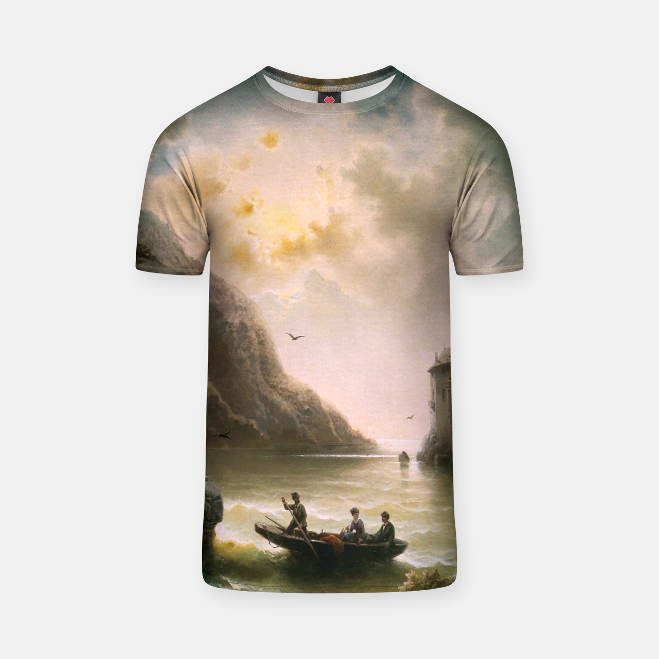 Image of Crossing In A Moonlit Night by Albert Rieger T-shirt - Live Heroes