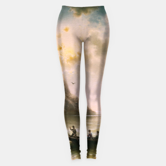 Thumbnail image of Crossing In A Moonlit Night by Albert Rieger Leggings, Live Heroes