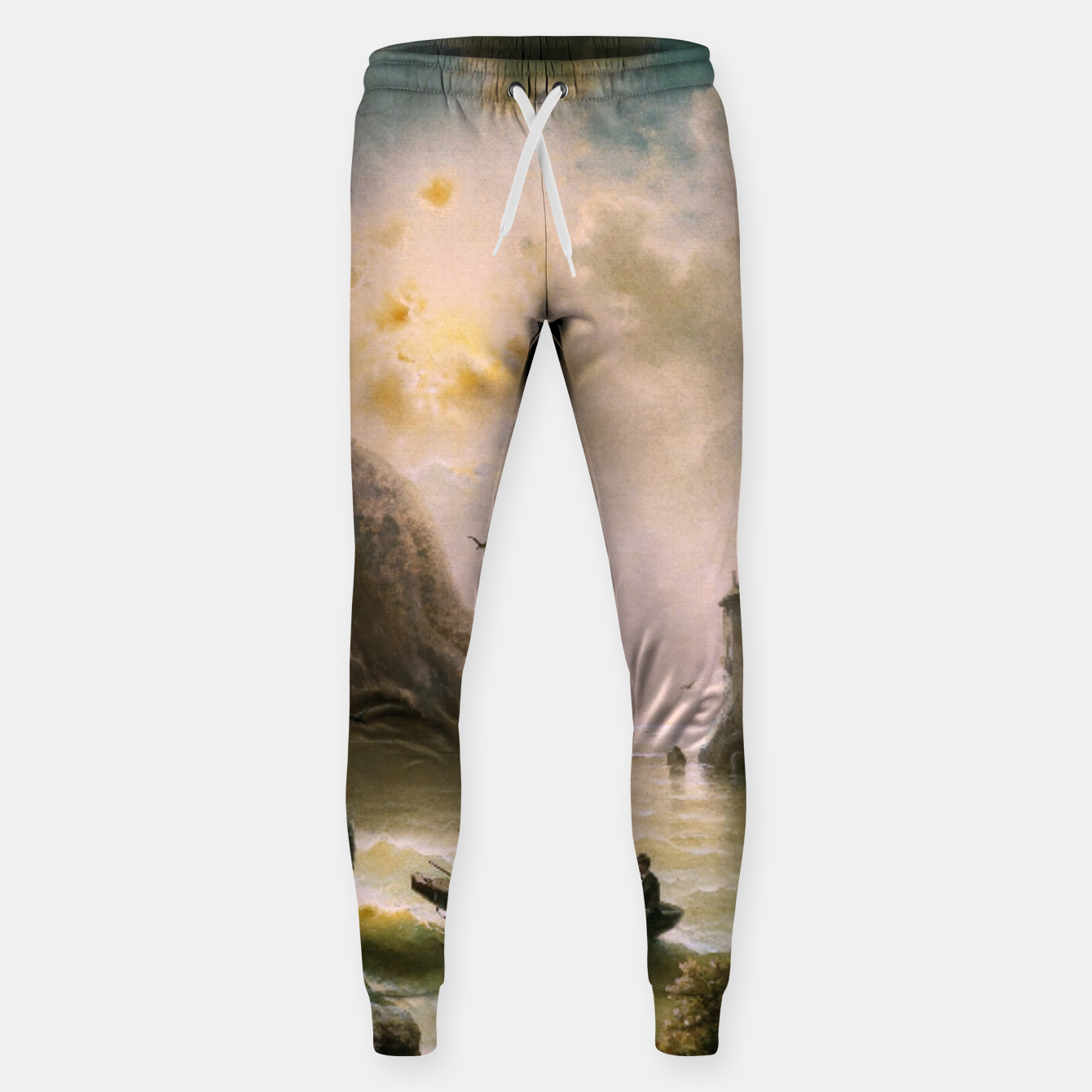 Image of Crossing In A Moonlit Night by Albert Rieger Sweatpants - Live Heroes