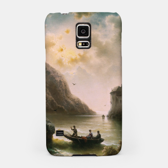 Thumbnail image of Crossing In A Moonlit Night by Albert Rieger Samsung Case, Live Heroes