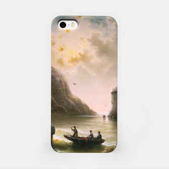 Thumbnail image of Crossing In A Moonlit Night by Albert Rieger iPhone Case, Live Heroes