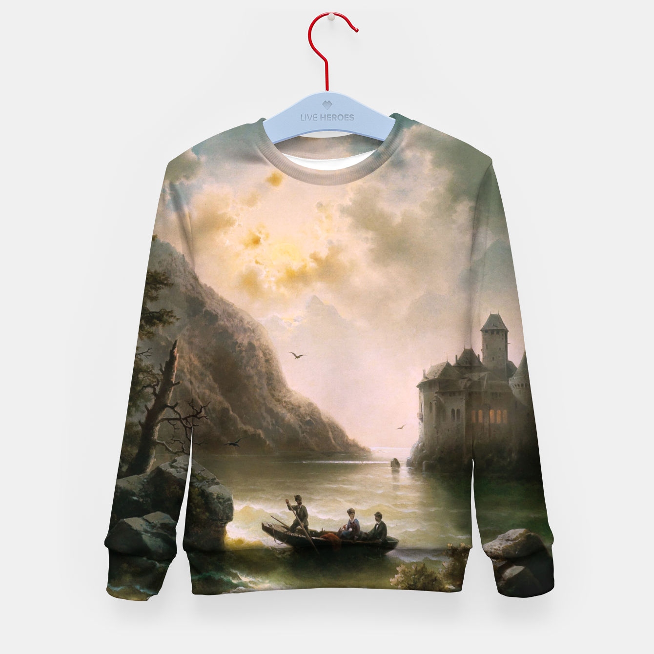 Image of Crossing In A Moonlit Night by Albert Rieger Kid's sweater - Live Heroes
