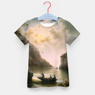 Thumbnail image of Crossing In A Moonlit Night by Albert Rieger Kid's t-shirt, Live Heroes