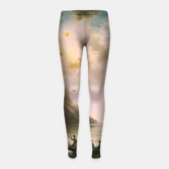 Thumbnail image of Crossing In A Moonlit Night by Albert Rieger Girl's leggings, Live Heroes