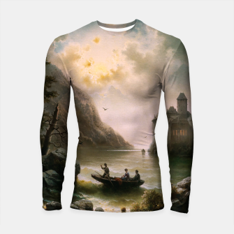 Thumbnail image of Crossing In A Moonlit Night by Albert Rieger Longsleeve rashguard , Live Heroes