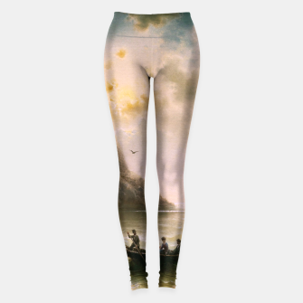 Miniatur Crossing In A Moonlit Night by Albert Rieger Leggings, Live Heroes