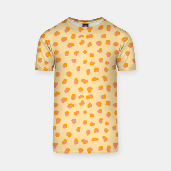 Thumbnail image of Cute saffron pink animal print  T-shirt, Live Heroes
