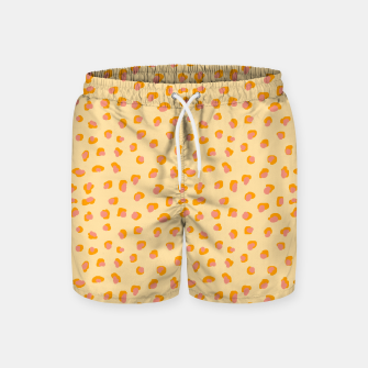 Thumbnail image of Cute saffron pink animal print  Swim Shorts, Live Heroes