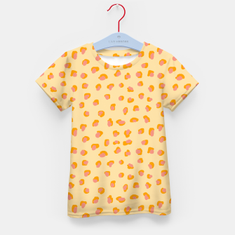 Thumbnail image of Cute saffron pink animal print  Kid's t-shirt, Live Heroes
