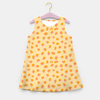 Thumbnail image of Cute saffron pink animal print  Girl's summer dress, Live Heroes